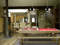 table in the kitchen broadway pool table by toulet luxebackyard com