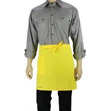 tablier de cuisine uni tablier de cuisine à la taille couleur jaune uni lisavet
