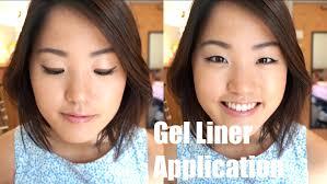liquid eyeliner tutorial asian everyday gel liner asian eyes youtube