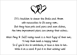 bridal shower gift poems wedding shower poems for gift cards imbusy for