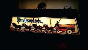 Fresh Vintage Budweiser Pool Table Light And Fresh Stained Glass