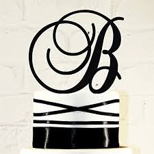 wedding cake toppers letters 6 inch monogram acrylic wedding cake topper