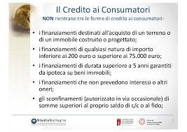 dispense master ct ix 2017 credito ai consumatori sovraindebitamen