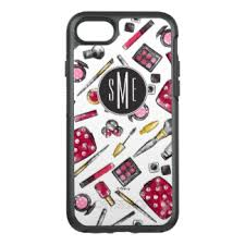 minnie mouse monogram minnie mouse otterbox iphone 8 7 cases zazzle