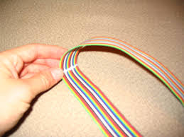 cable jpg get a length of rainbow color coded wire ribbon wiring