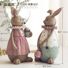 wu li family couples rabbit ornaments lovely spicy rabbit ornaments