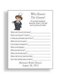 bridal shower question bridal shower question for groom wedding ideas