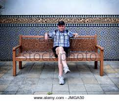 bench berlin berlin man on a park bench under the lime trees stock photo