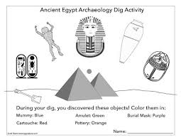 things you find in an egyptian tomb worksheet egyptabout