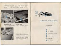 thesamba com august 1955 1956 vw bug owner u0027s manual