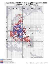 Iu Campus Map Cyrillic Index To Cyrillic Topographic Maps Indiana University