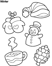 stuff in winter coloring page winter coloring pages of