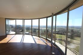 glass door wall balcony systems product curved glass doors curved doors