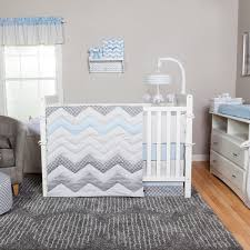 trend lab blue taffy chevron 3 crib bedding set free