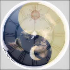 yin yang showing the movement of the sun moon on the flat earth