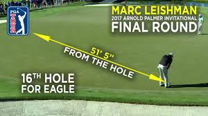 by the numbers marc leishman u0027s clutch eagle at arnold palmer