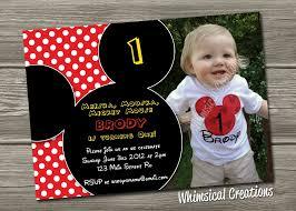 Mickey Mouse Birthday Invitation Cards Mickey Mouse Birthday Invitation Digital File Mickey Mouse