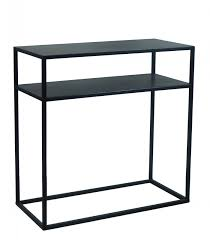 Metal Console Table Design Black Metal Console Table Zen Length 60cm Wadiga Com