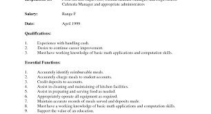 job description for cashier on resume mcdonalds cashier job