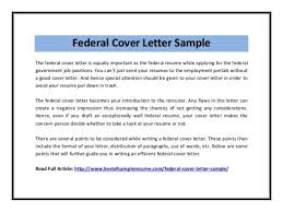 bunch ideas of how to write a cover letter for federal employment
