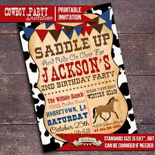 cowboy party invitations theruntime com