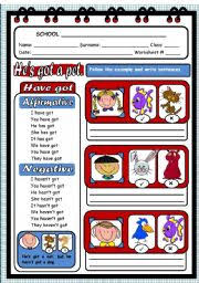 english teaching worksheets the verb to have