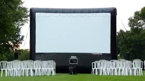 backyard projector rental home outdoor decoration
