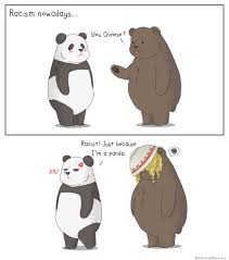 meme thursday racism nowadays illustrated with pandas beijing cream