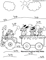 coloring page of fall hay coloring pages fall festival ride harvest page png inside