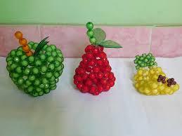 cara membuat kerajinan akrilik hiasan dan gantungan kunci buah buahan dari manik manik mote jual