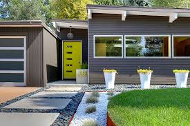 modern front yard landscaping front yard modern landscaping with river stones as main element