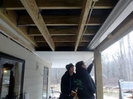deck soffit ceiling fine homebuilding