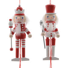 wooden nutcracker pull puppet white assorted designs 12cm
