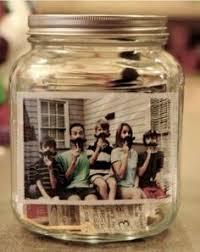lade di vetro foto dentro un barattolo di vetro fai da te per natale fai da
