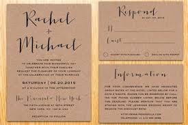 kraft paper wedding invitations wedding invitations kraft paper
