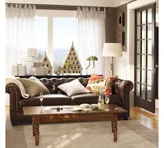 Chesterfield Tufted Leather Sofa Amusing Pottery Barn Tufted Leather Sofa 20 Chesterfield L