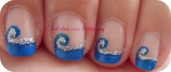 copycat claws blue color block nail art nail art color blue best