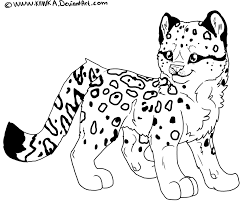cute cartoon cheetah coloring pages
