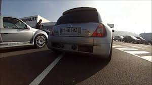 renault clio v6 modified renault clio v6 ph 1 exhaust sound youtube