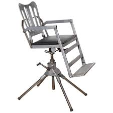 1920 u0027s iron cast aluminum and leather recline and fold military