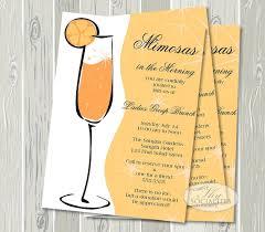 invitations for brunch mimosa invitation chagne brunch bridal shower brunch birthday