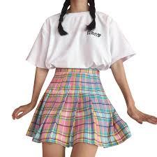 pleated skirt pastel pleated skirt inu inu