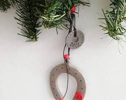 horseshoe ornament etsy