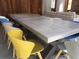 x leg dining table beton 220cm x leg polished concrete extending dining table woodstock