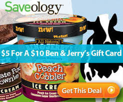Ben And Jerry S Gift Card - saveology 10 ben jerry s gift card for 5 saving with shellie