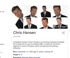 Chris Hansen Meme - til googles photo summary for chris hansen just the same picture