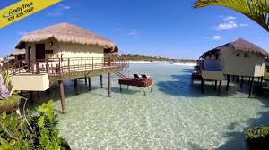 el dorado maroma overwater bungalows youtube