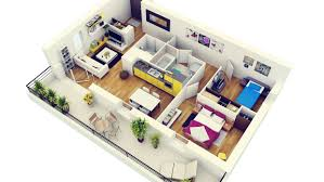 Best 2 Bhk House Plan 2 Bedroom House Plans 3d View Ideas Design A House Interior