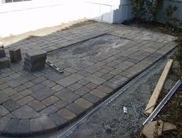 Paver Patio Installation by Plastic Pavers For Patio Home Design Ideas And Pictures