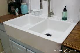 Hammered Copper Apron Front Sink by Sink Pleasurable Apron Farm Sink Ikea Notable How To Install